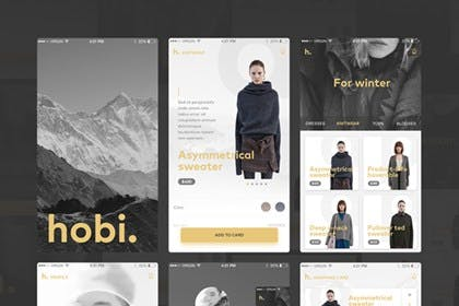 Hobi – Free Mobile App UI Kit from UIGarage