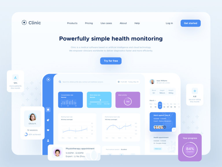 Clinic UI Elements for Sketch from UIGarage