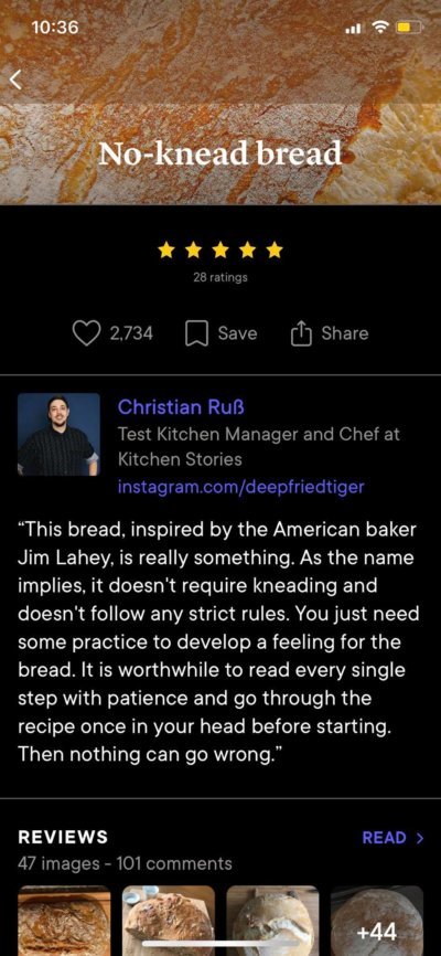 Content Screen on iOS by Kitchen Stories from UIGarage