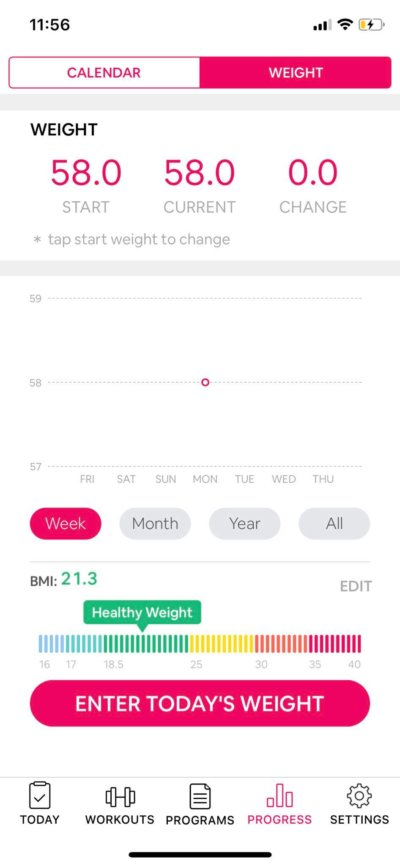 Content Screen on iOS by Workout Women from UIGarage