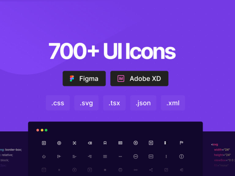 700+ UI Icons for Figma and Adobe XD from UIGarage