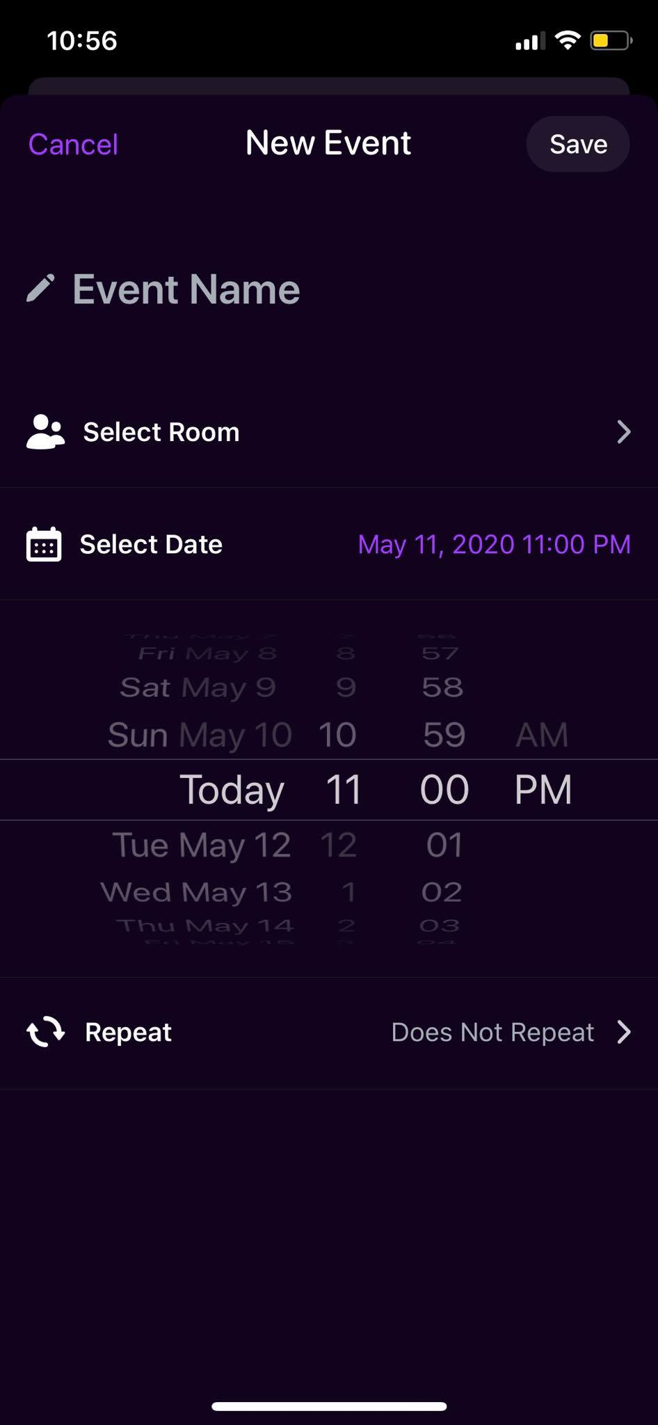 Date Picker on iOS by Airtime from UIGarage