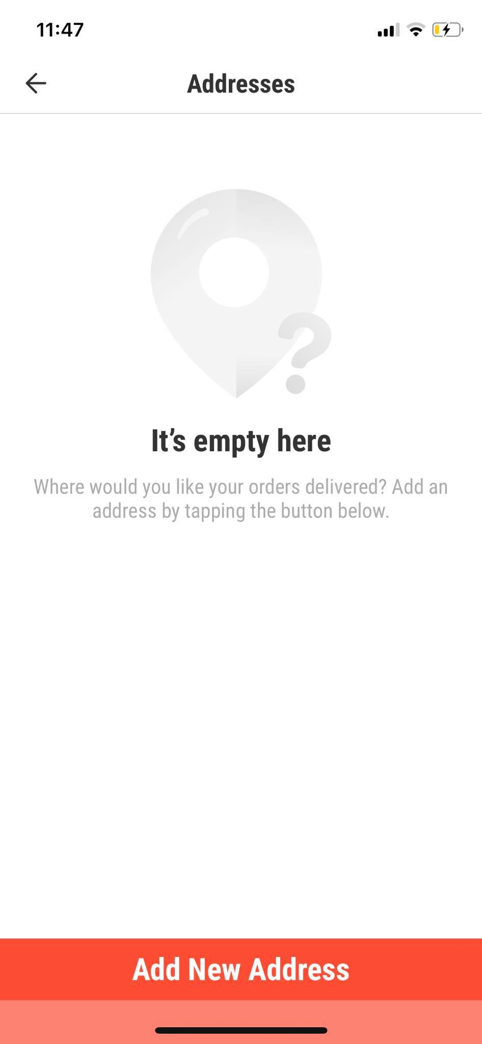 Empty State on iOS by Hungrily from UIGarage