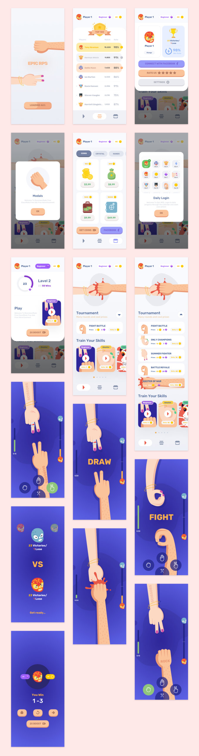 Epic Mobile Game UI Kit for Sketch from UIGarage