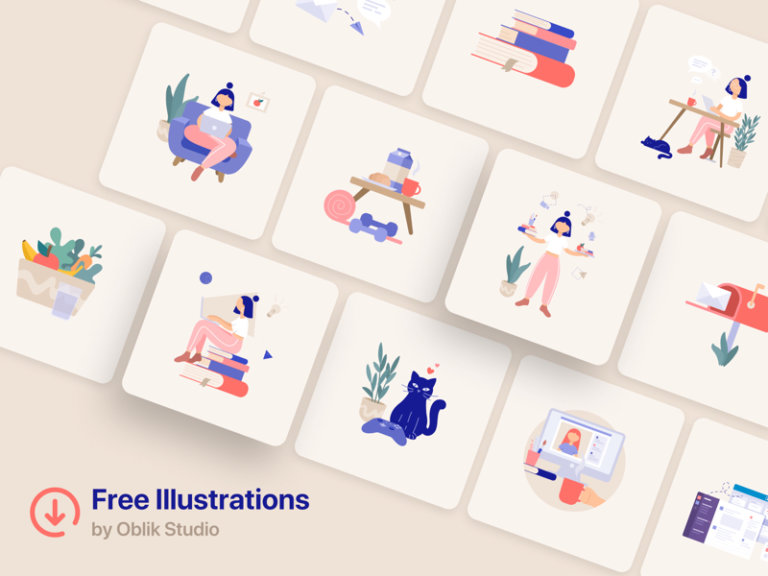 25+ Free Remote Work Illustrations from UIGarage