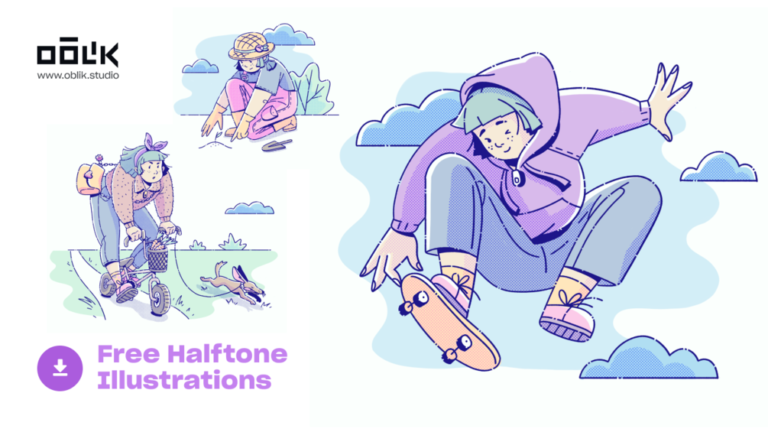 Halftone Free Illustrations from UIGarage