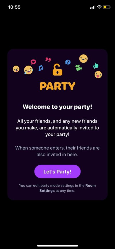 Let's Party on iOS by Airtime from UIGarage