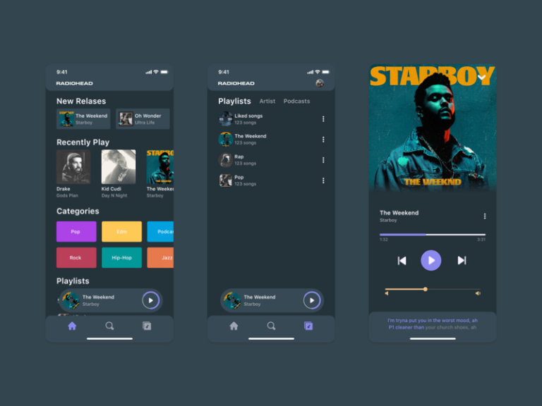 Music App for Sketch from UIGarage