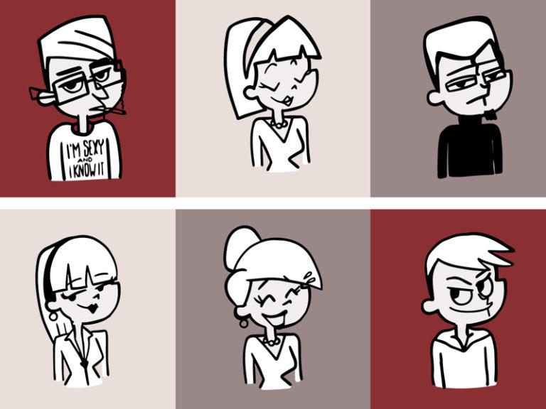 Retroooo Folks Illustrations from UIGarage