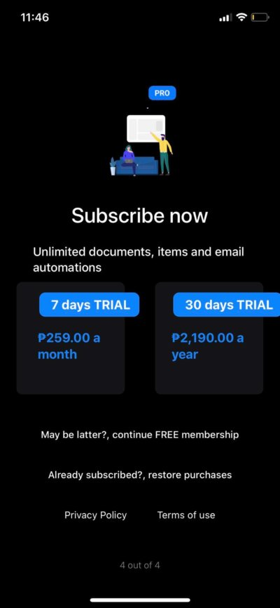 Subscribe Now on iOS by Minutes from UIGarage