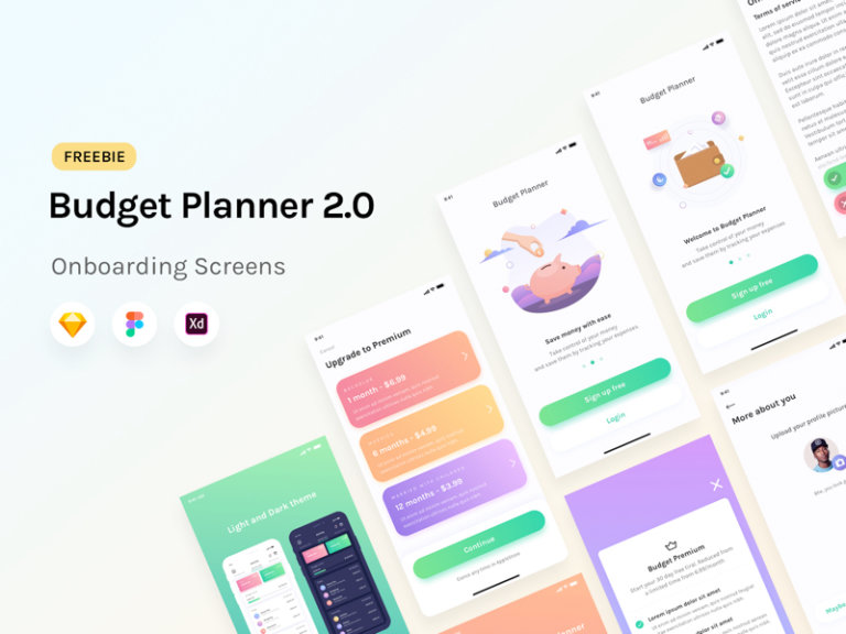 Budget Planner: Onboarding Screens UI Kit from UIGarage