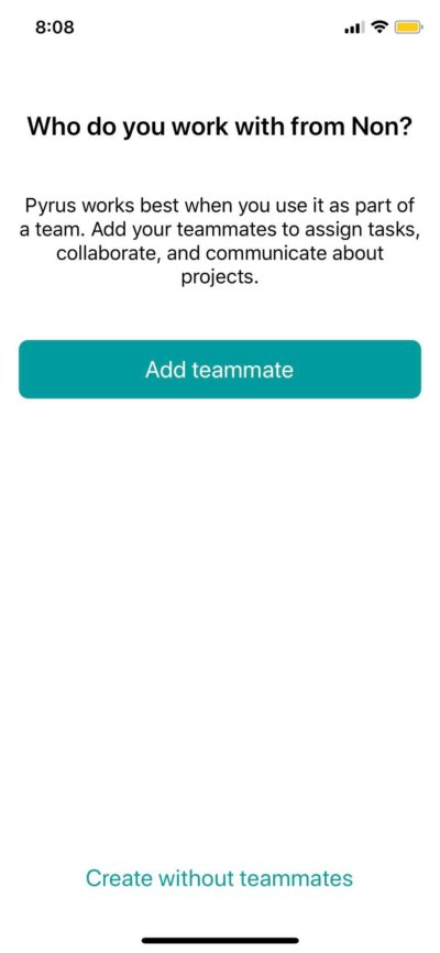 Add Team mates on iOS by Pyrus from UIGarage