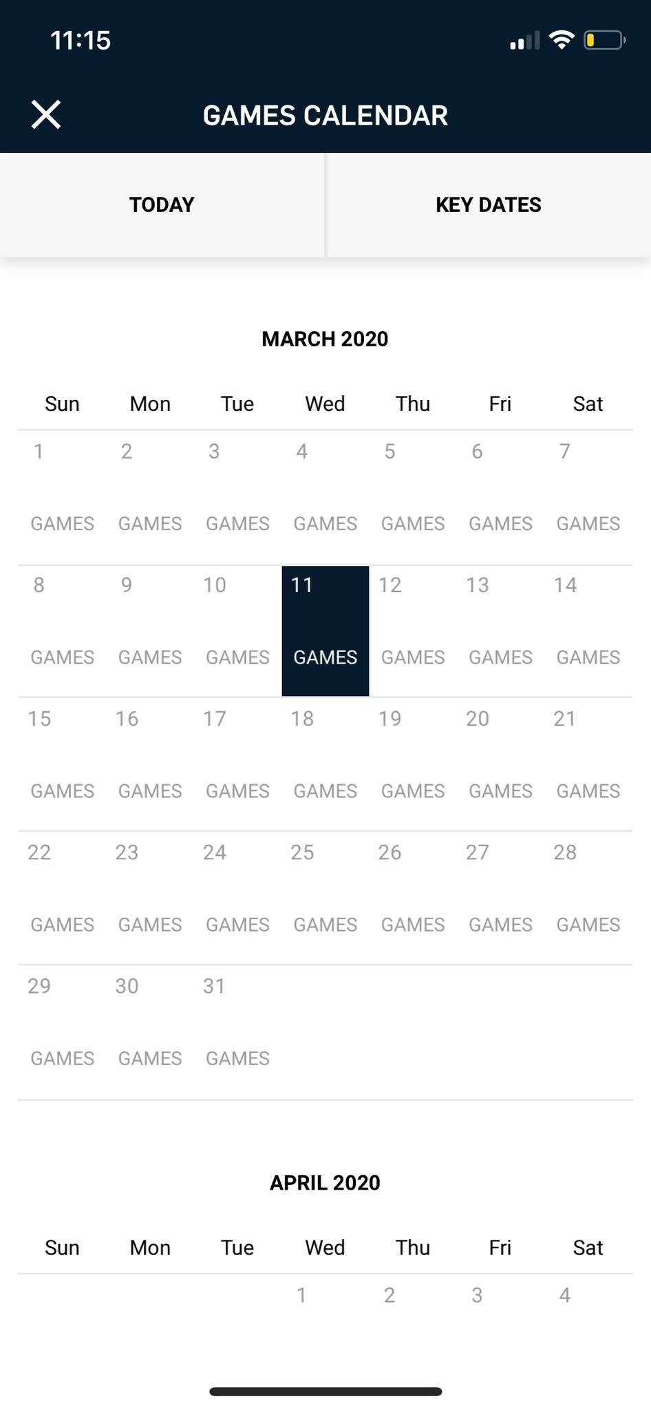 Calendar on iOS by NBA from UIGarage