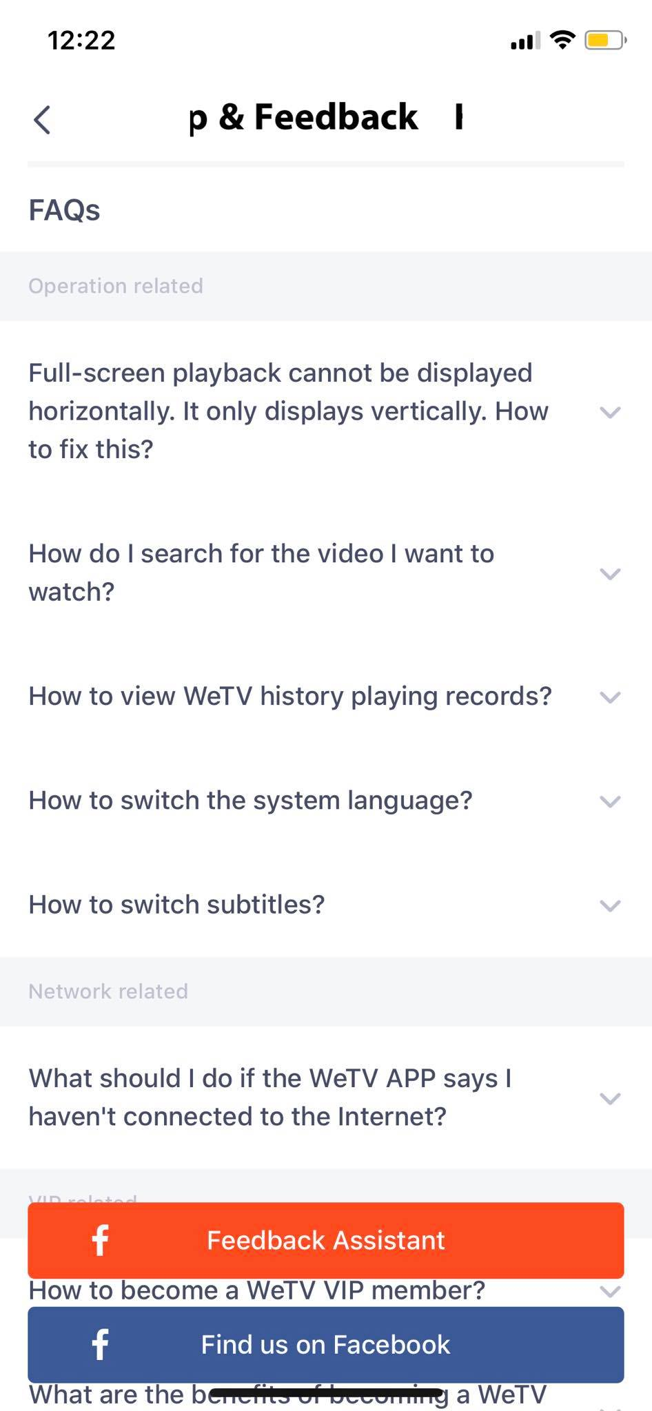 FAQ on iOS by WeTV from UIGarage