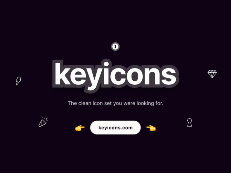 Keyicons - The clean icon set from UIGarage