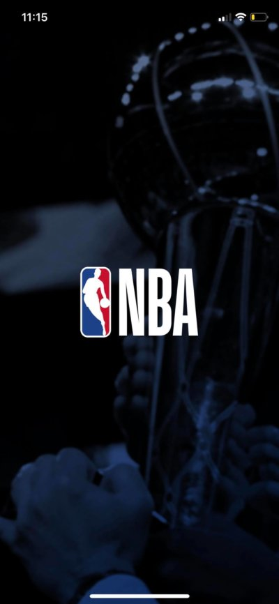Launch Screen on iOS by NBA from UIGarage