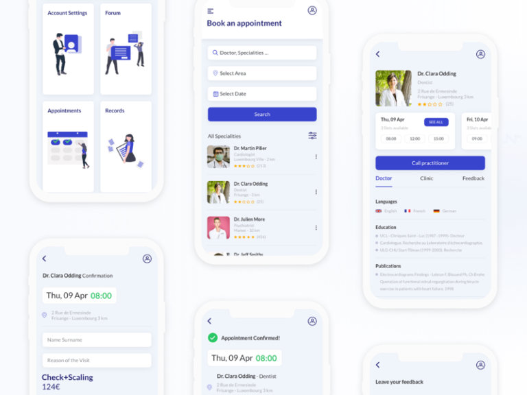 Medica App for Adobe XD from UIGarage