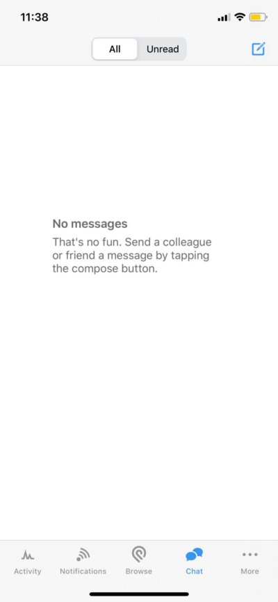 No Messages on iOS by Podio from UIGarage