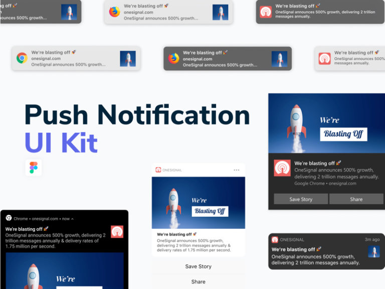 Push Notification Free UI Kit for Figma from UIGarage