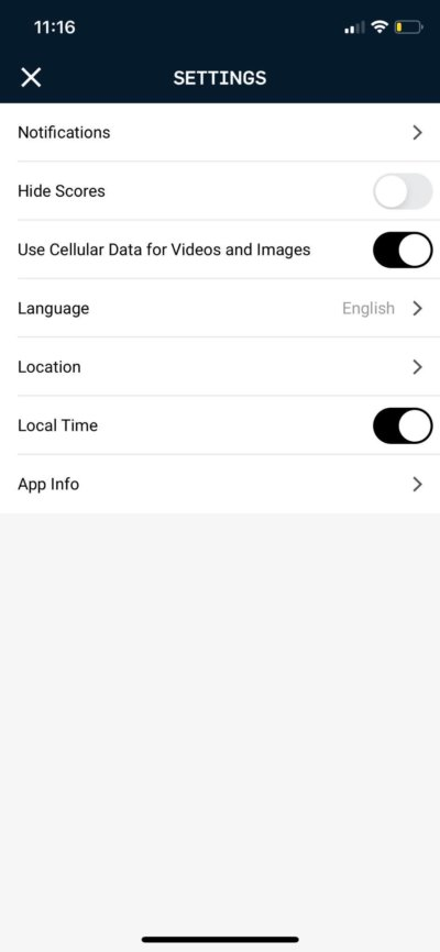 Settings on iOS by NBA from UIGarage