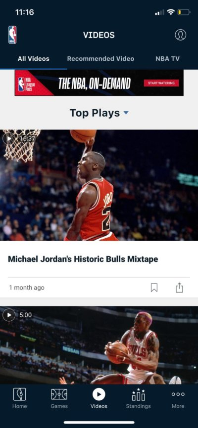Videos on iOS by NBA from UIGarage