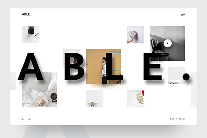 ABLE Free PSD Template from UIGarage