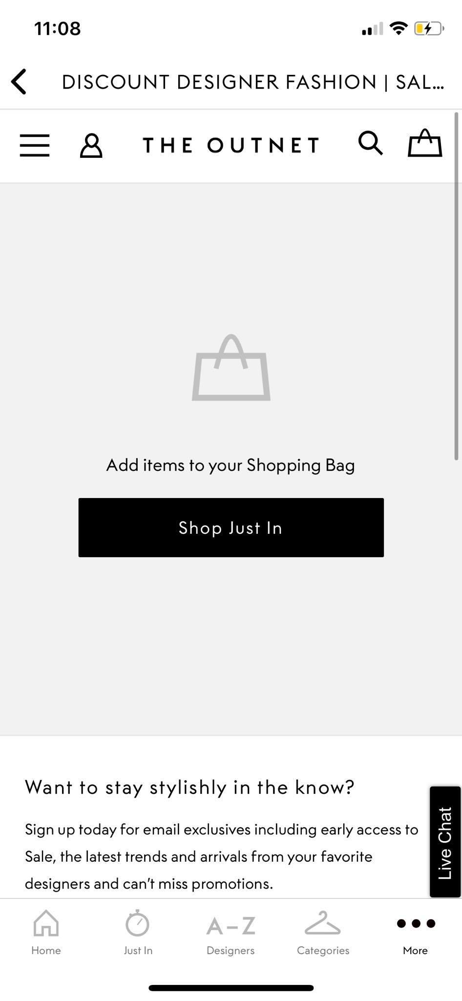 Cart on iOS by Outnet from UIGarage