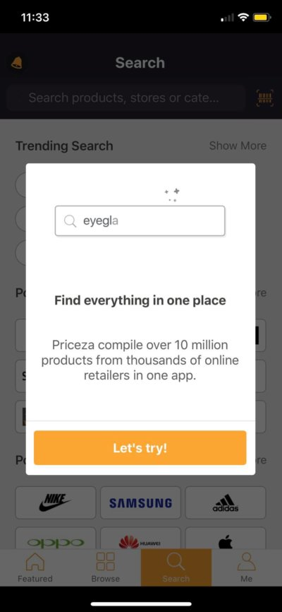 Alerts on iOS by Priceza from UIGarage