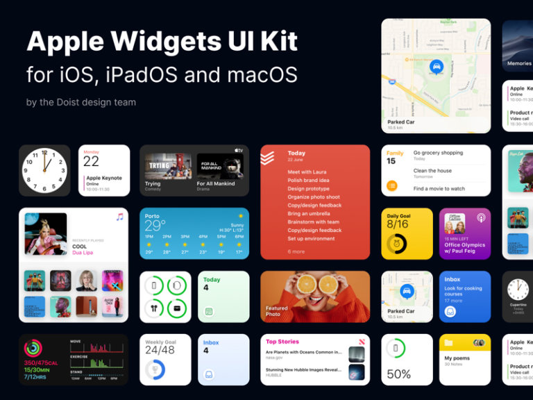 Apple Widgets UI Kit for Figma from UIGarage