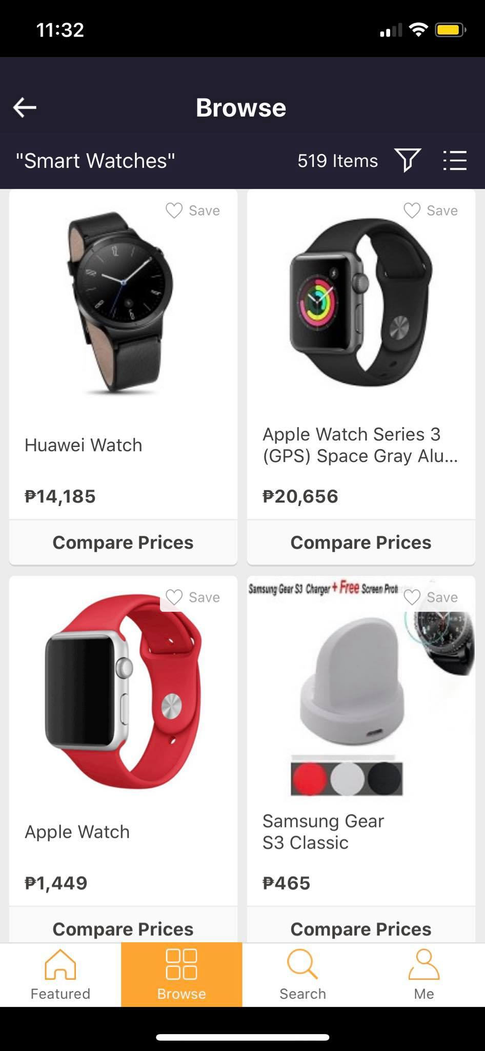 Browse on iOS by Priceza from UIGarage