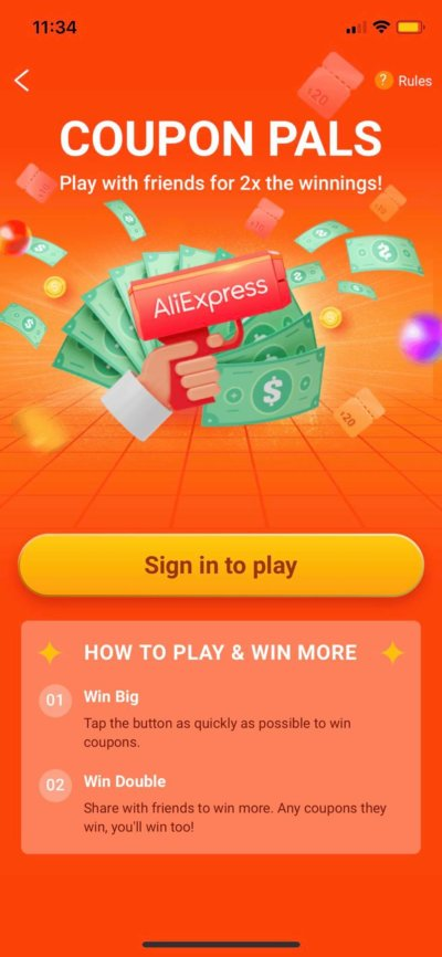 Coupon Pals on iOS by AliExpress from UIGarage