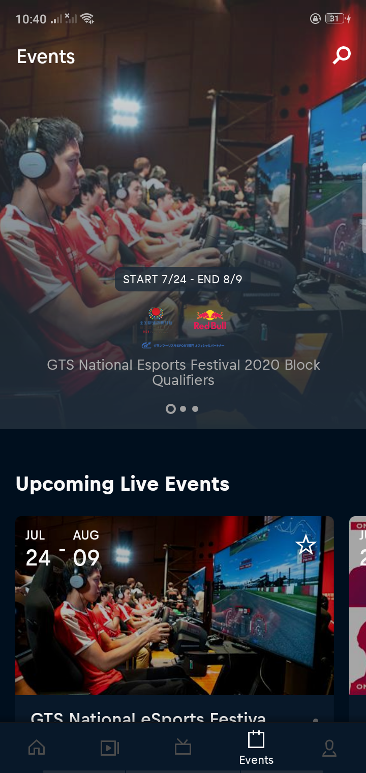 Events on Android by Redbull from UIGarage