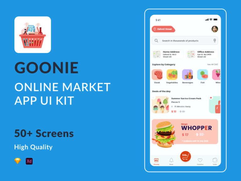 Goonie - Online Market UI Kit for Adobe XD and Sketch from UIGarage