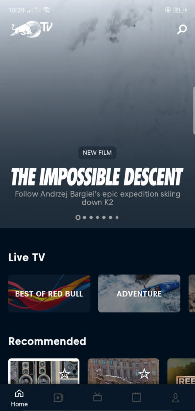 Home on Android by Red Bull from UIGarage