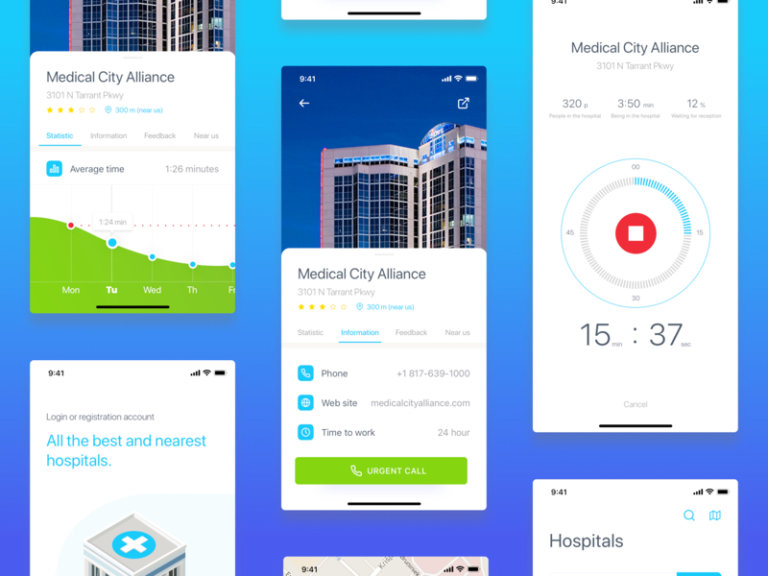Hospadviser UI Kit for Sketch from UIGarage