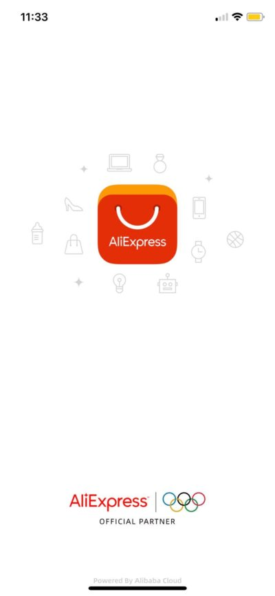 Launch Screen on iOS by AliExpress from UIGarage