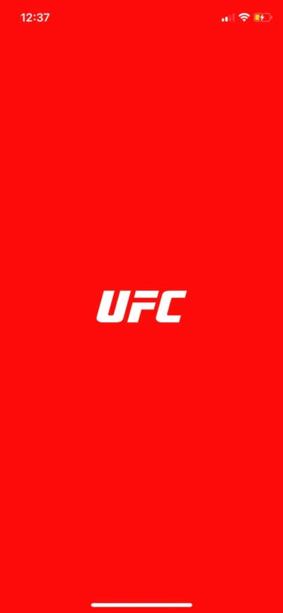 Launch Screen on iOS by UFC from UIGarage