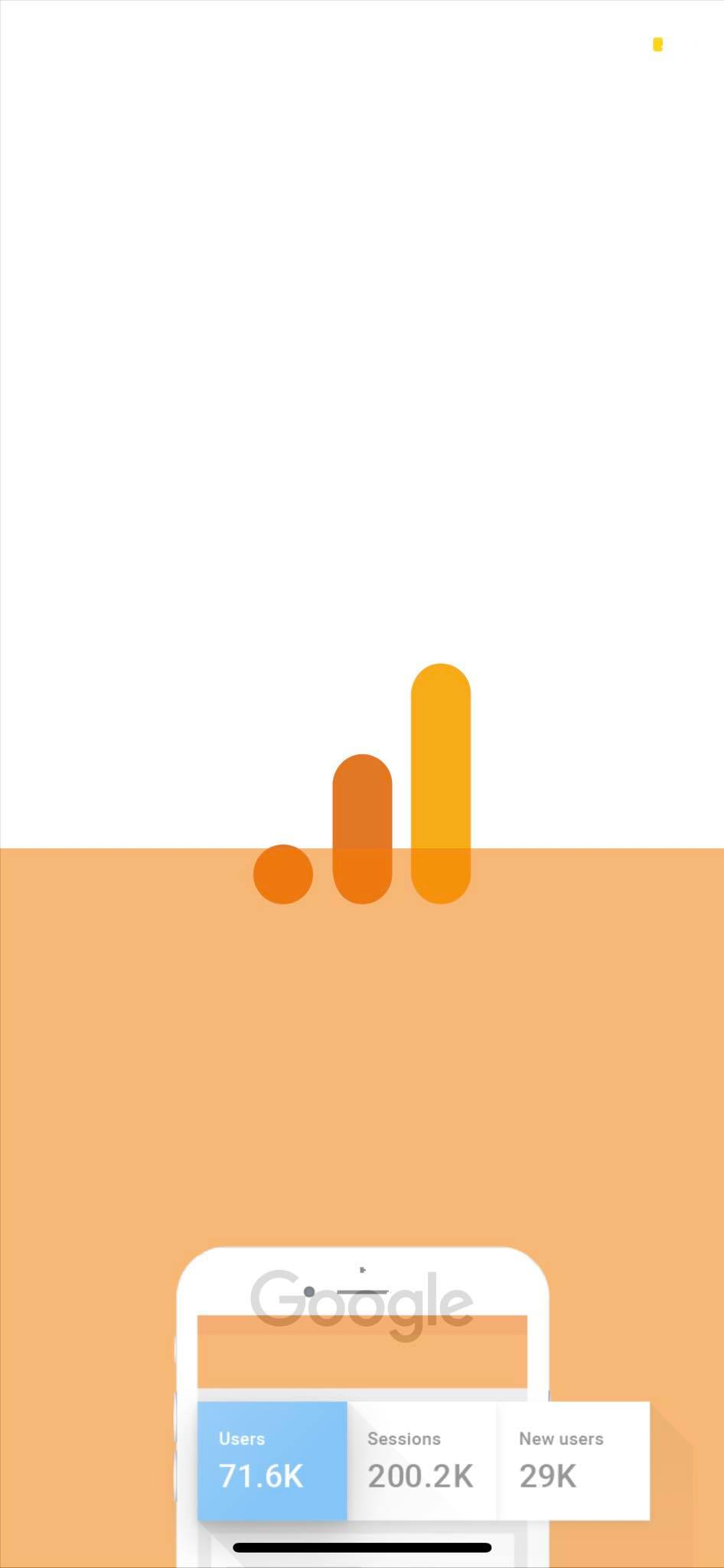 Launch Screen on iOS by Google Analytics from UIGarage