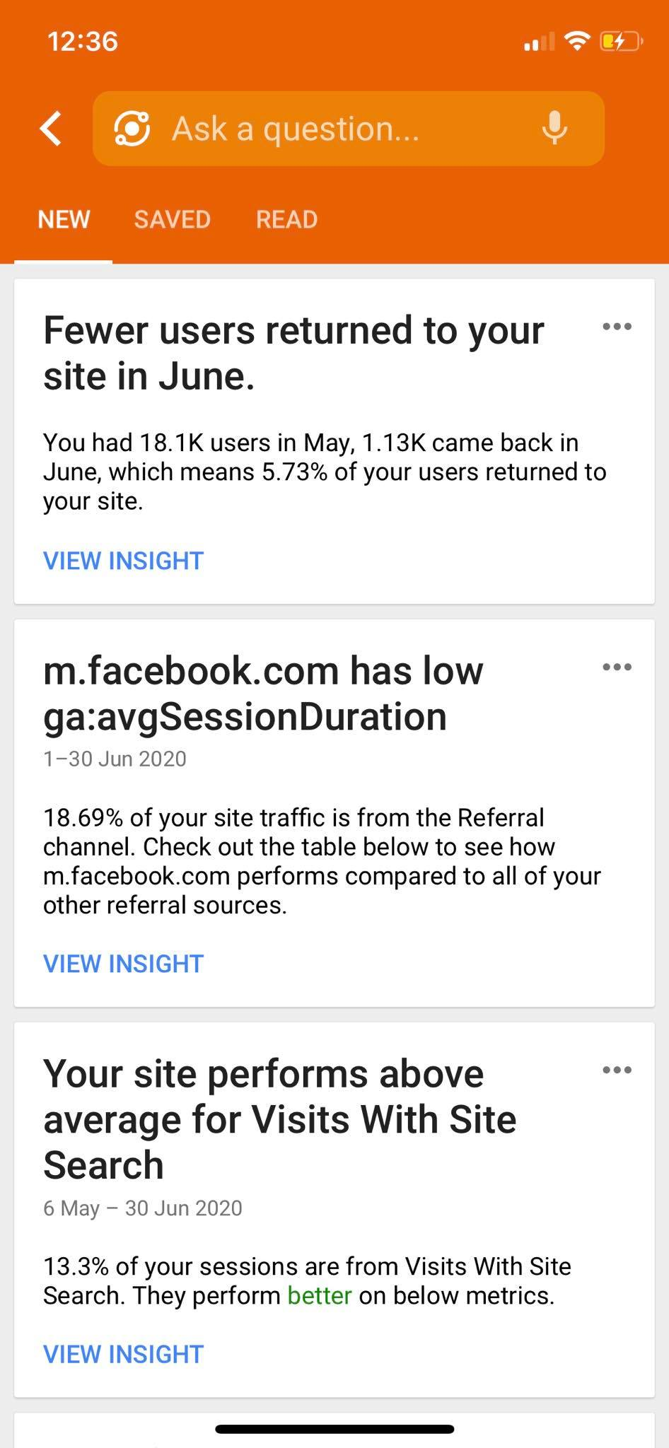 News on iOS by Google Analytics from UIGarage