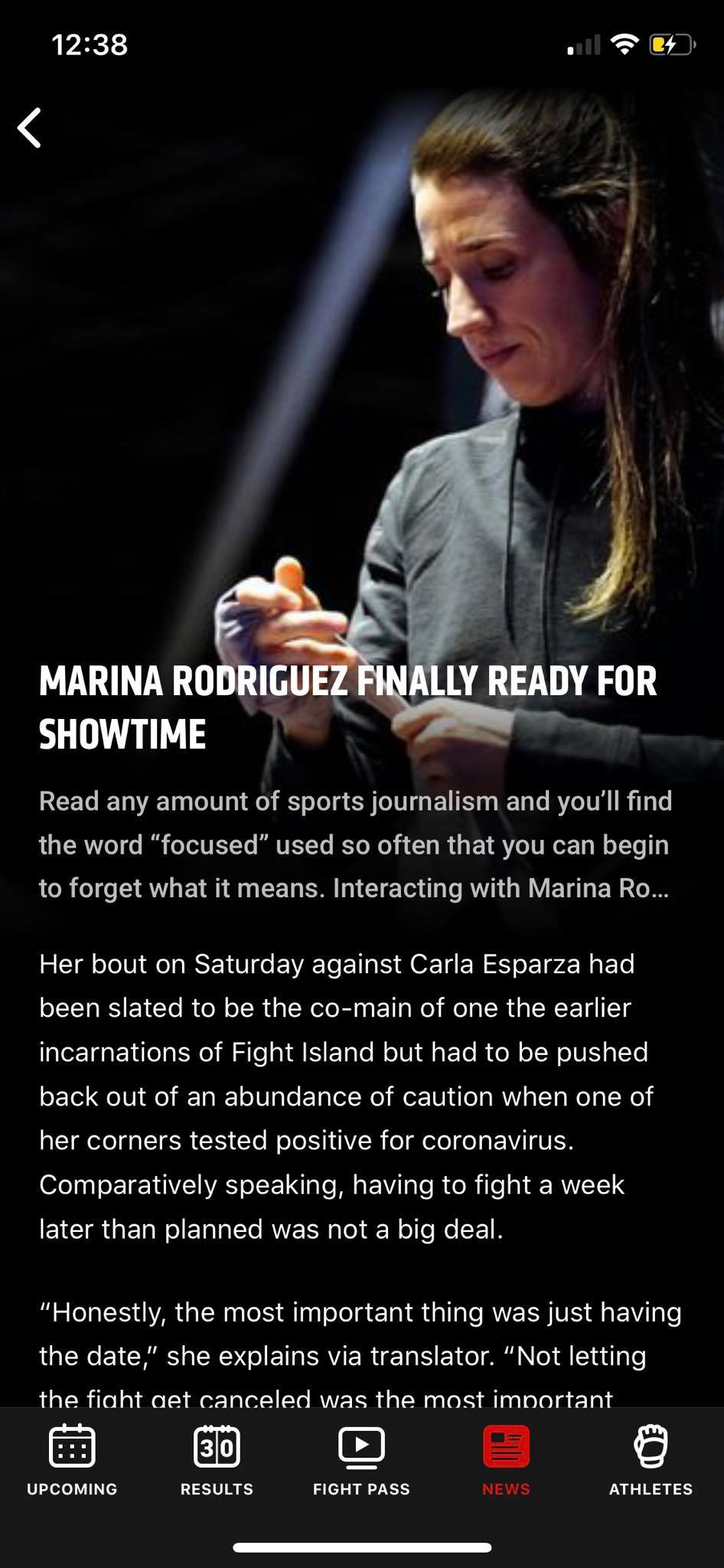 News Content on iOS by UFC from UIGarage
