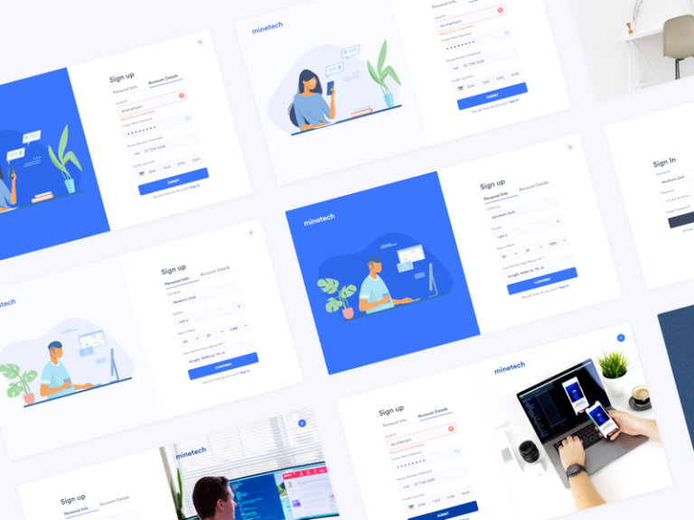 Sign Up Onboarding Free UI Kit for Adobe XD from UIGarage