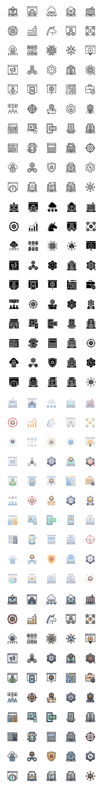 50 Startups and SaaS Free Icons from UIGarage