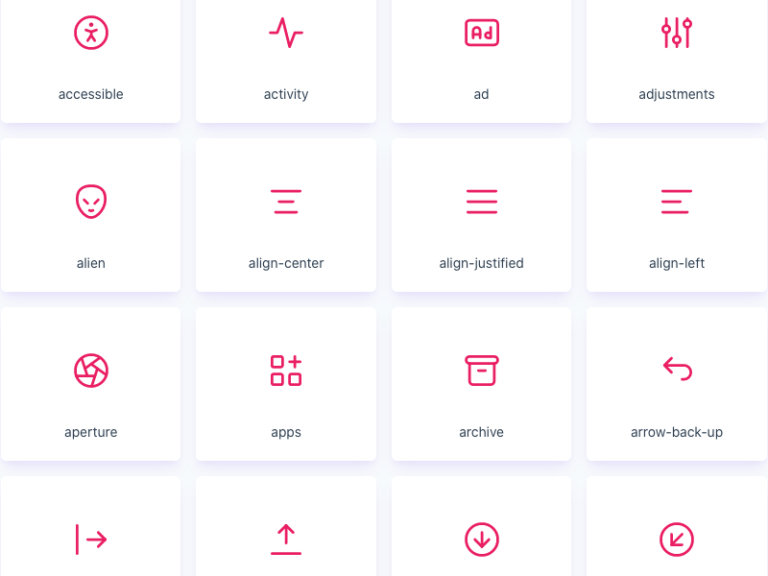 Tabler 550+ Free Icons from UIGarage