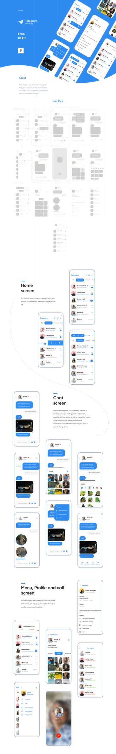 Telegram App UI Kit for Figma from UIGarage