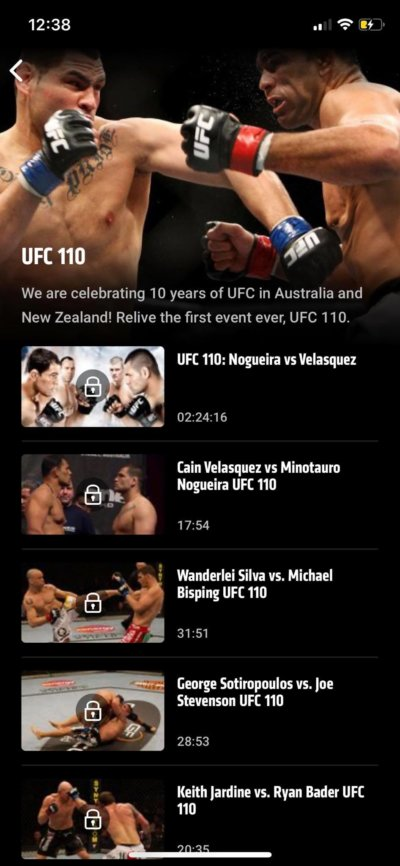 Video Player on iOS by UFC from UIGarage