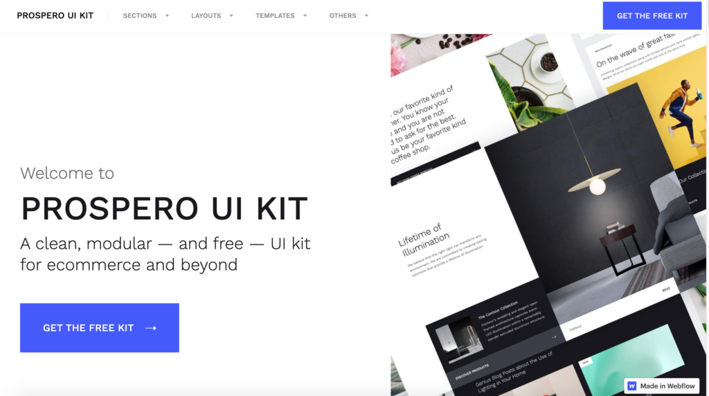 Top 8 UI Kits for Webflow from UIGarage