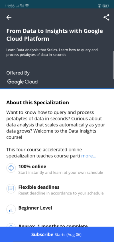 About on Android by Coursera from UIGarage