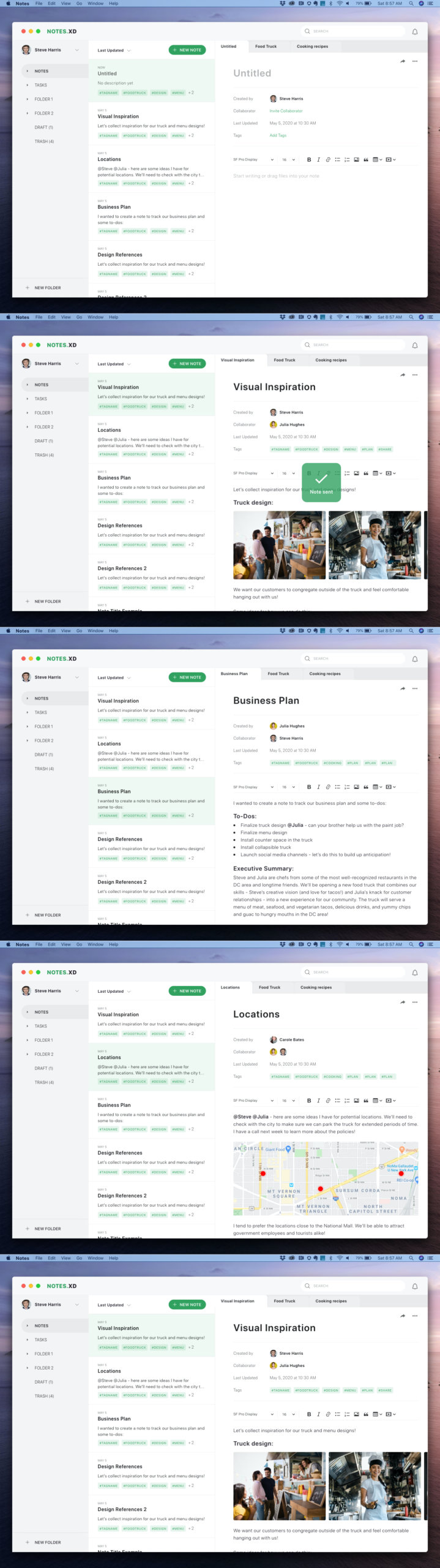 Adobe Note UI Kit for Adobe XD from UIGarage
