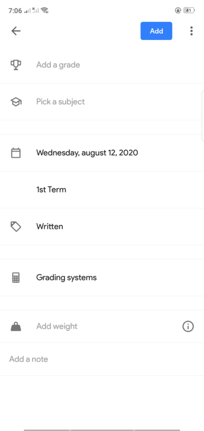 Create on Android by School Planner from UIGarage
