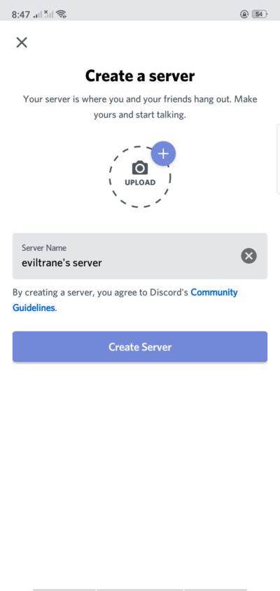 Create Server on Android by Discord from UIGarage